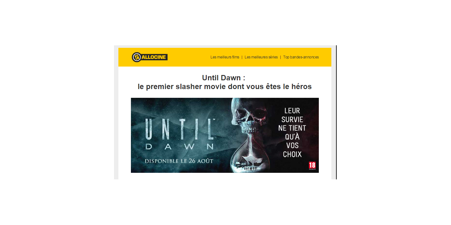 Until Dawn - Sony Playstation - Webedia Brand Solutions (C)